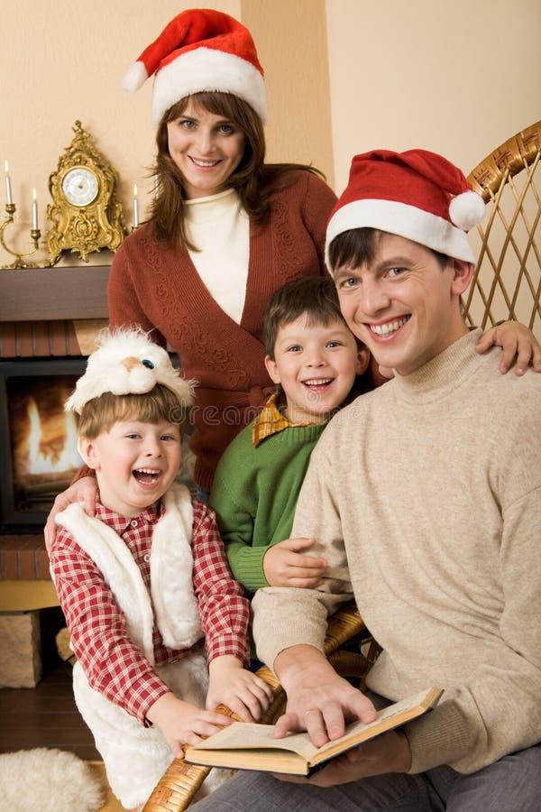 Vrolijke familie royalty-vrije stock foto's