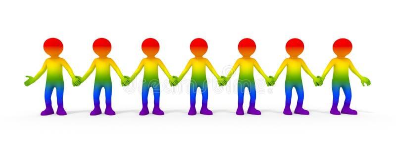 Vrolijke gemeenschap vector illustratie