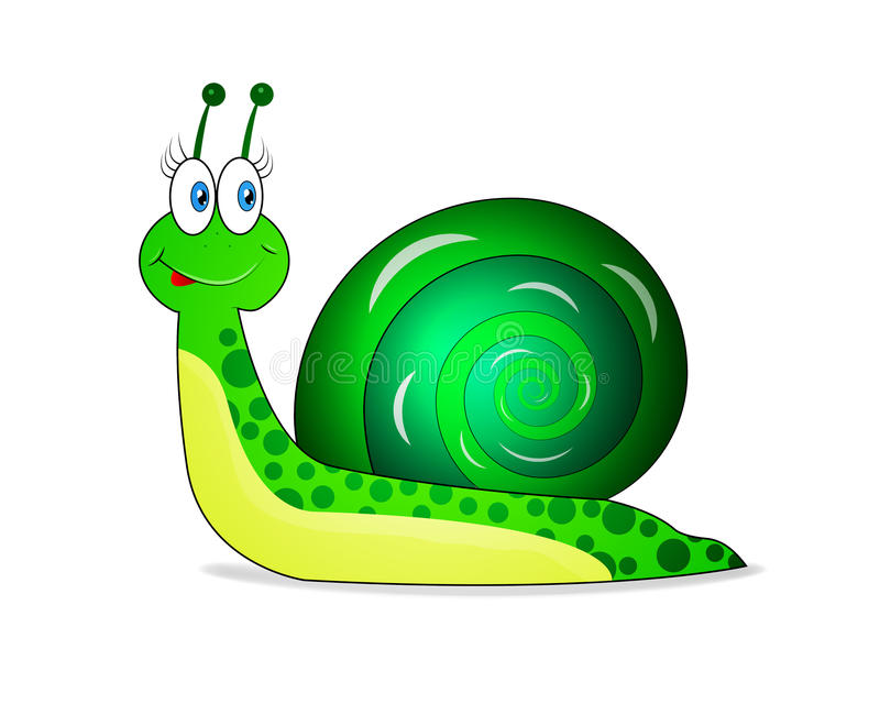 Vrolijke groene slak vector illustratie