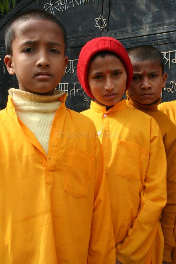 Vrolijke Hindoese studenten royalty-vrije stock fotografie