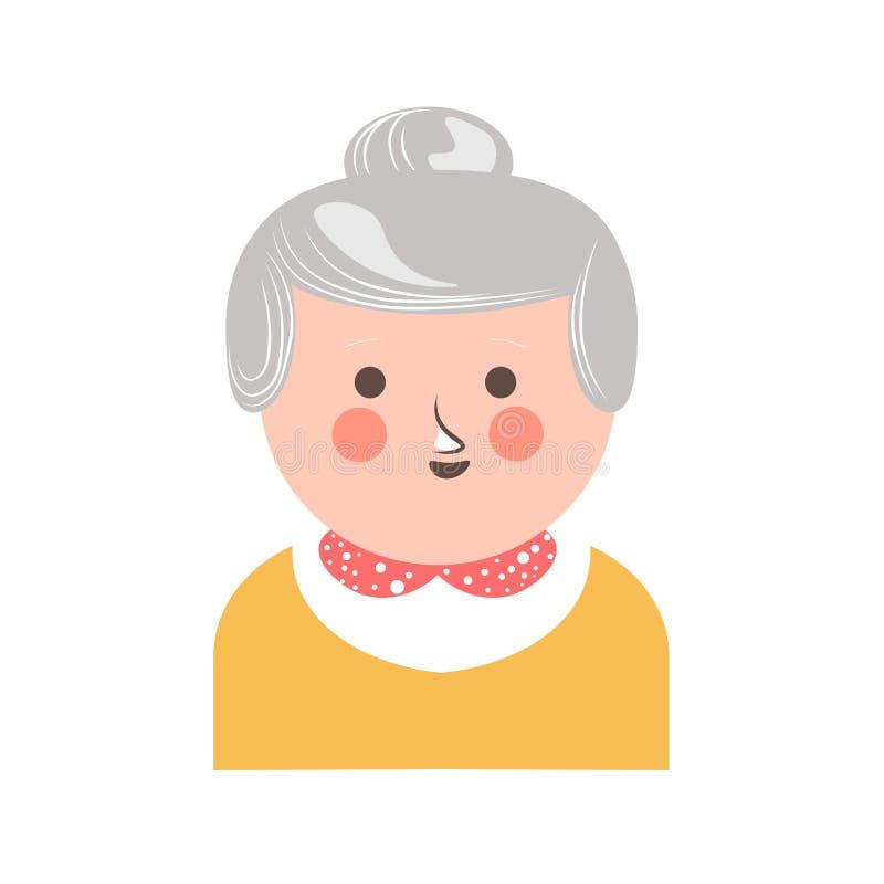 Vrolijke hogere volwassen vrouw stock illustratie