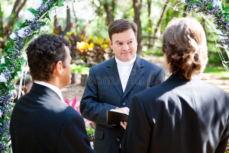 Vrolijke Huwelijksceremonie royalty-vrije stock fotografie
