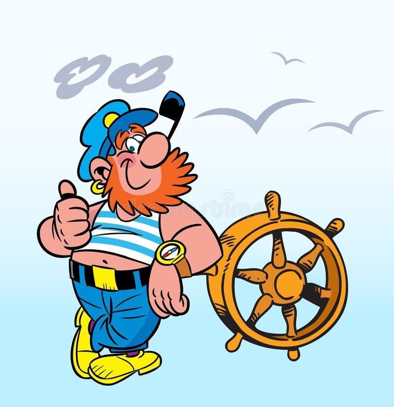 Vrolijke kapitein stock illustratie
