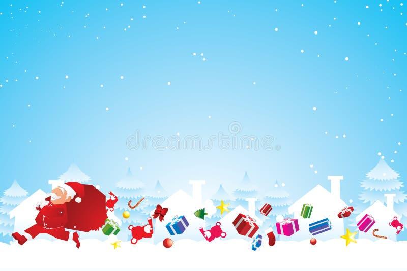 Vrolijke Kerstmis stock illustratie