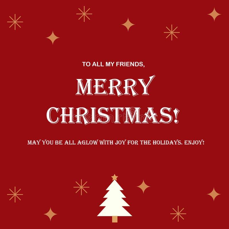 Vrolijke Kerstmis aan allen stock illustratie