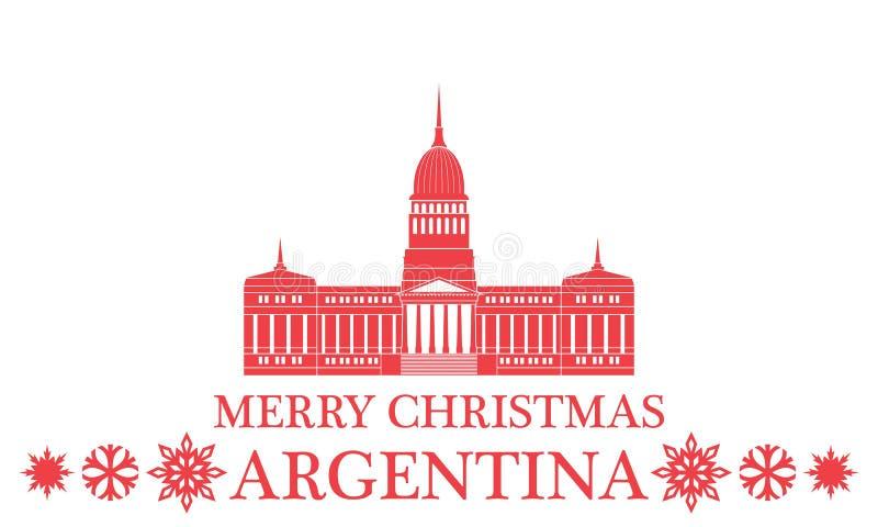 Vrolijke Kerstmis Argentinië vector illustratie