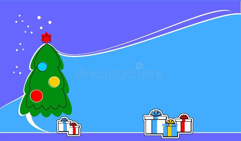 Vrolijke Kerstmis, banner, nieuw jaar, stichting, nieuw, voor Web, voor de reclame van, voor verkoop, voorstel, stock illustratie