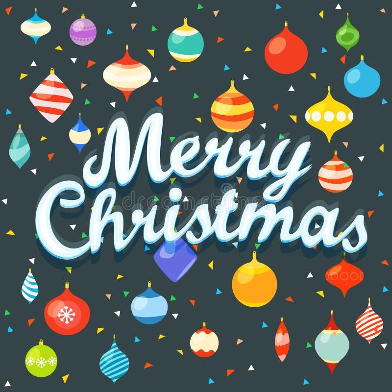 Vrolijke Kerstmis De groetkaart van Kerstmis royalty-vrije illustratie