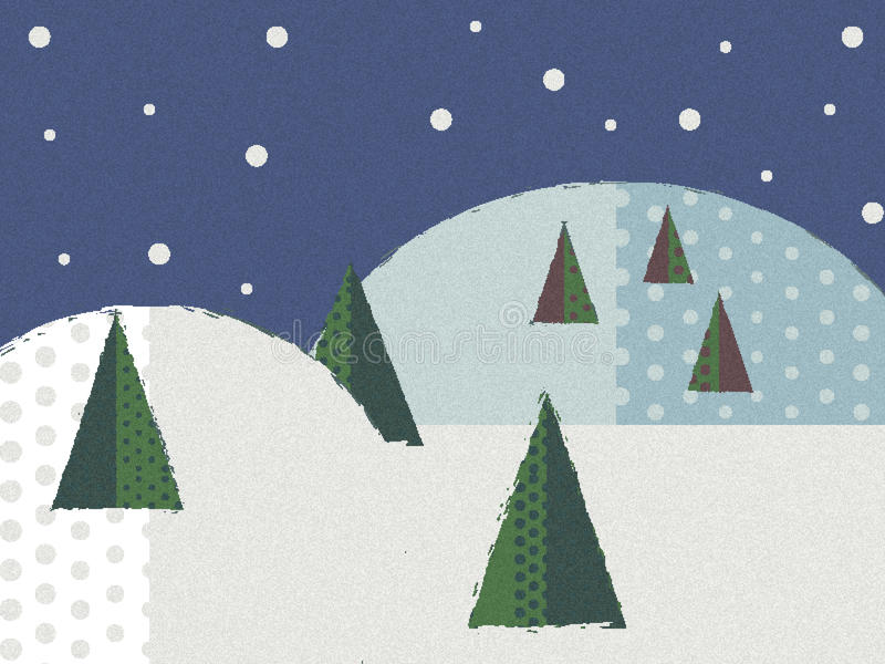 Vrolijke Kerstmis in een sneeuwvlok vector illustratie