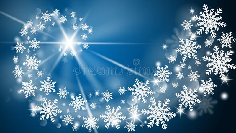 Vrolijke Kerstmis en de Gelukkige nieuwe kaart van de jaargroet in document snijden stijlachtergrond De vectorviering van illustr vector illustratie