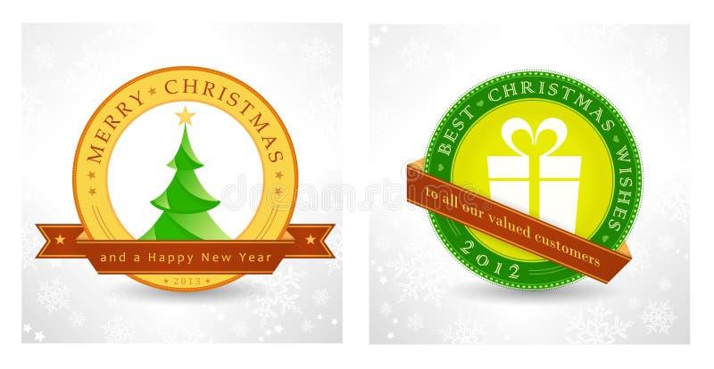 Vrolijke Kerstmis en een Gelukkig Nieuwjaar royalty-vrije illustratie
