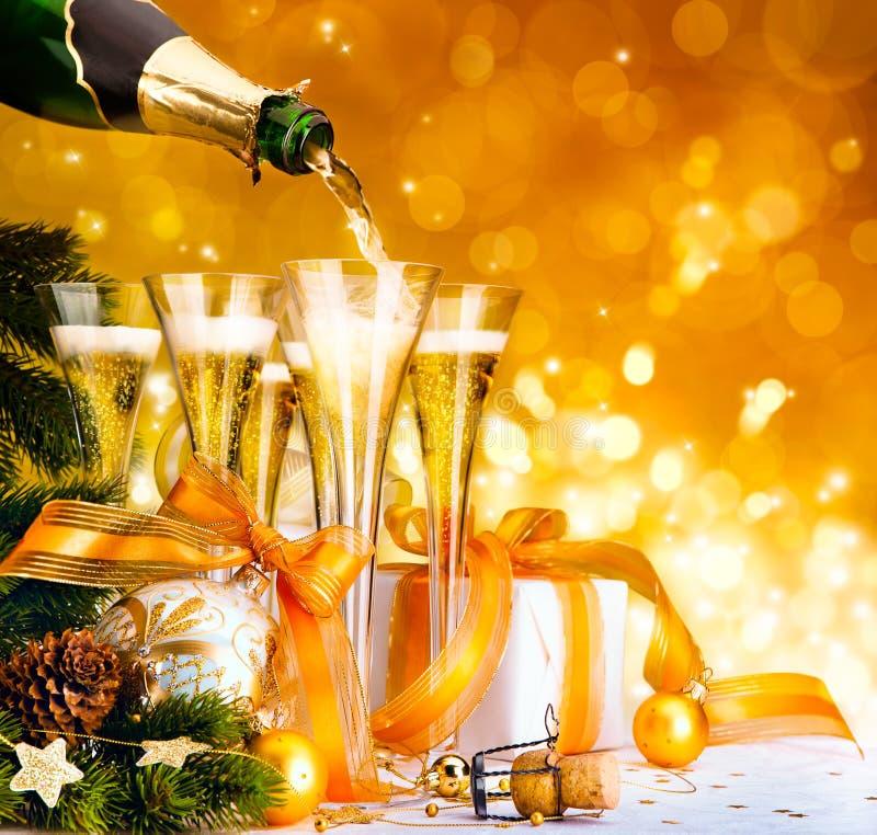 Vrolijke Kerstmis en gelukkig nieuw jaar royalty-vrije stock afbeelding
