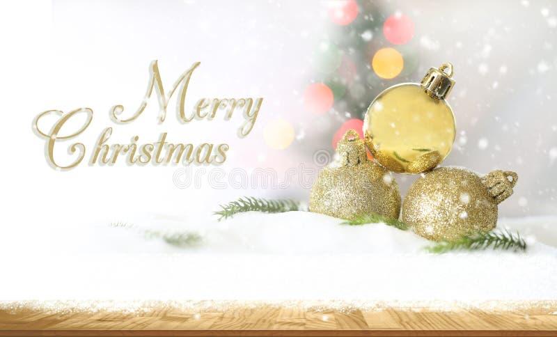 Vrolijke Kerstmis en gelukkig nieuw jaarconcept, Close-up Christmasbal royalty-vrije stock foto's