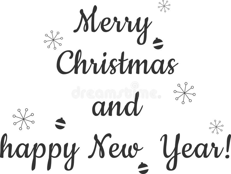 Vrolijke Kerstmis en Gelukkig Nieuwjaar! royalty-vrije illustratie