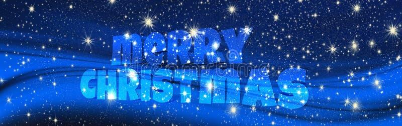 Vrolijke Kerstmis en sterren, achtergrond royalty-vrije stock fotografie