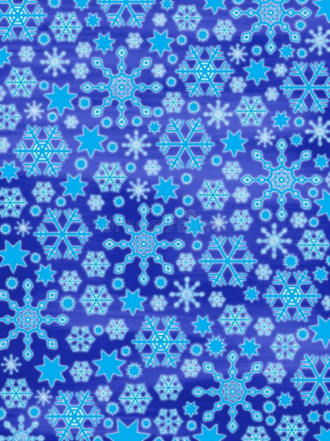 Vrolijke Kerstmis!! : -) Gloeiende Sneeuwvlokken Stock Afbeelding