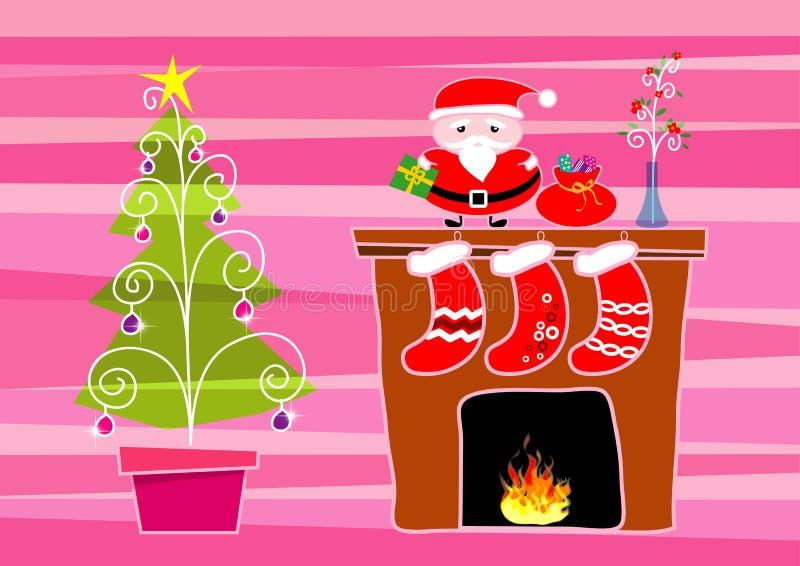 Vrolijke Kerstmis, illustratie royalty-vrije illustratie