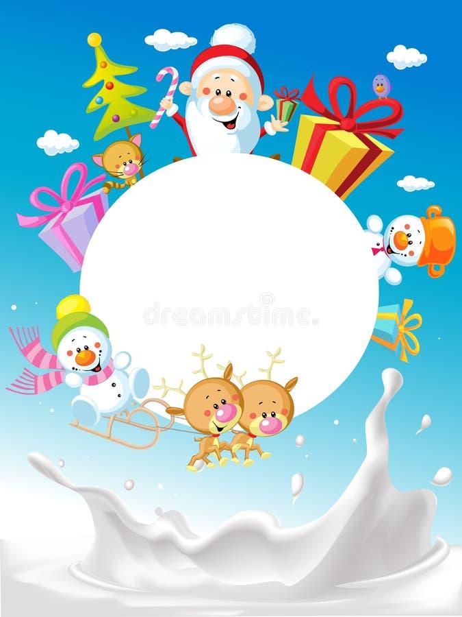 Vrolijke Kerstmis - met Santa Claus Sleigh royalty-vrije illustratie