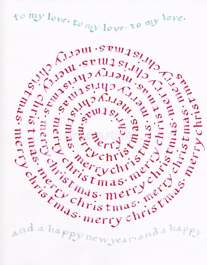 Vrolijke Kerstmis, Mijn Liefde, Vraag stock fotografie