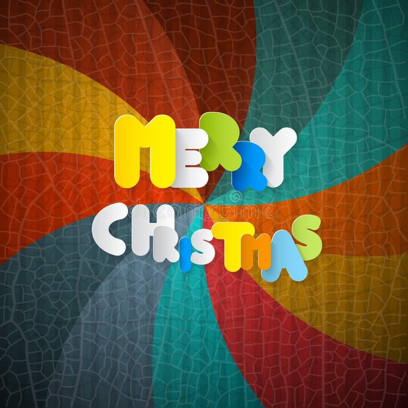 Vrolijke Kerstmis Retro Achtergrond vector illustratie