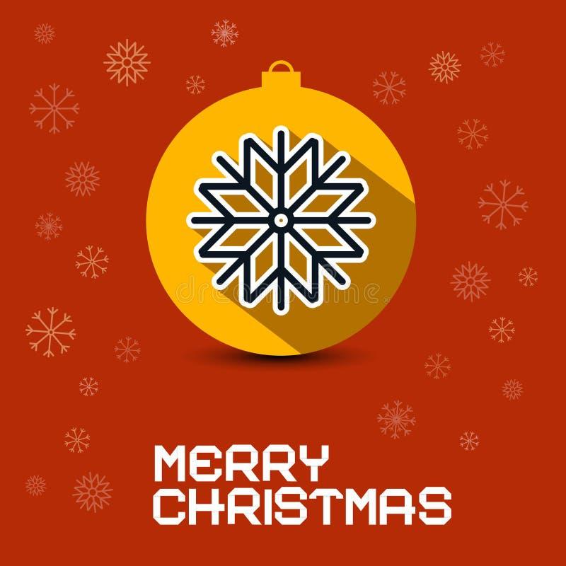 Vrolijke Kerstmis Retro Vectorkaart stock illustratie
