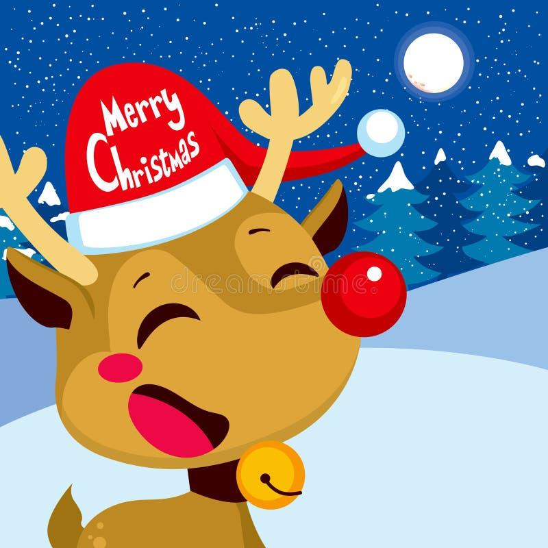 Vrolijke Kerstmis Rudolph royalty-vrije illustratie