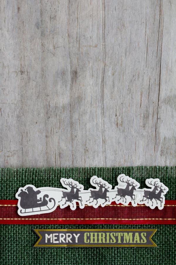 Vrolijke Kerstmis Santa Sleigh stock foto's