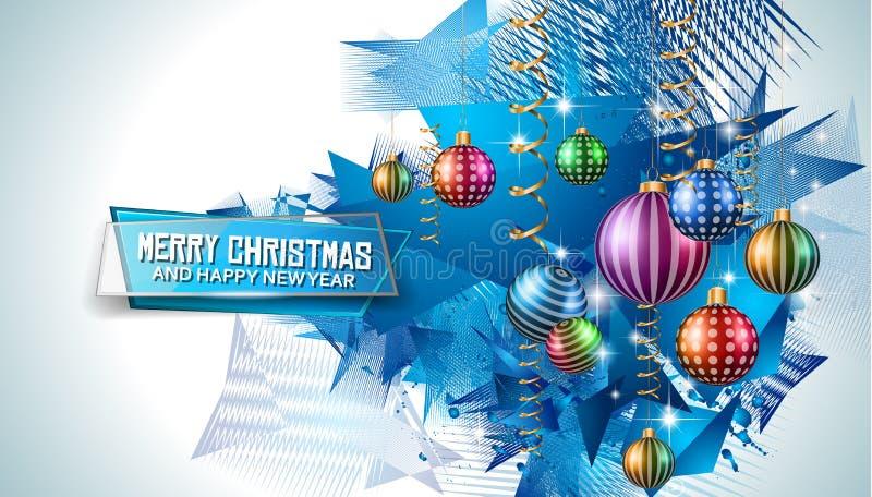 Vrolijke Kerstmis Seizoengebonden Achtergrond voor uw groetkaarten royalty-vrije illustratie