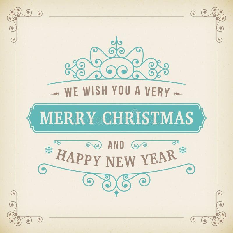 Vrolijke Kerstmis uitstekende krul op document achtergrond