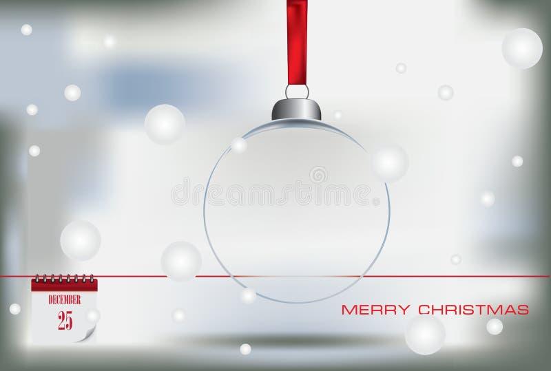 Vrolijke Kerstmis van de prentbriefkaar royalty-vrije illustratie