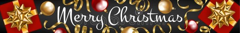 Vrolijke Kerstmis van de Webbanner royalty-vrije illustratie