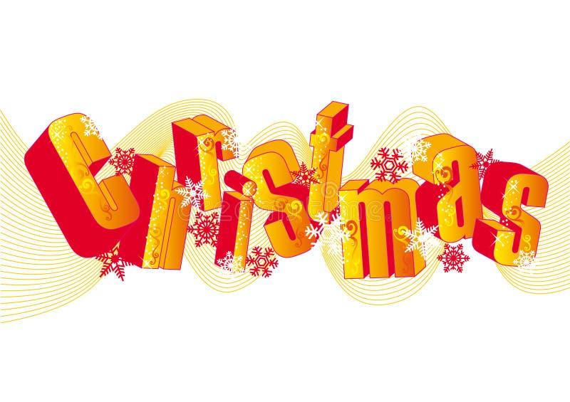 Vrolijke Kerstmis, vector royalty-vrije illustratie