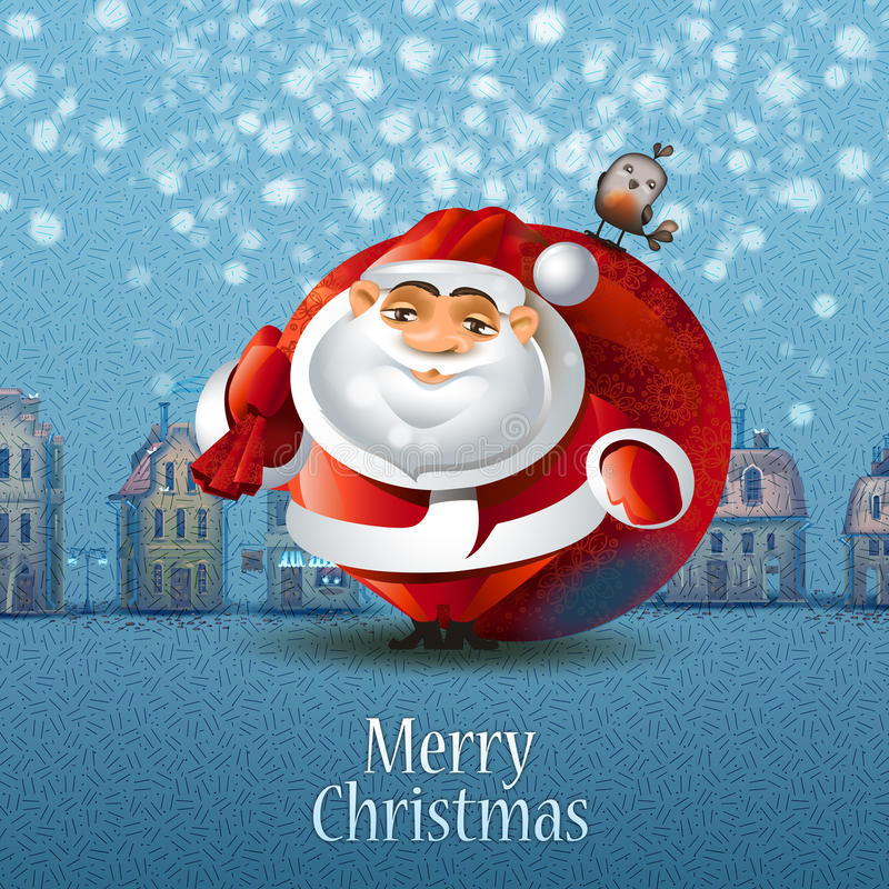 Vrolijke Kerstmis. Vectorillustratie vector illustratie