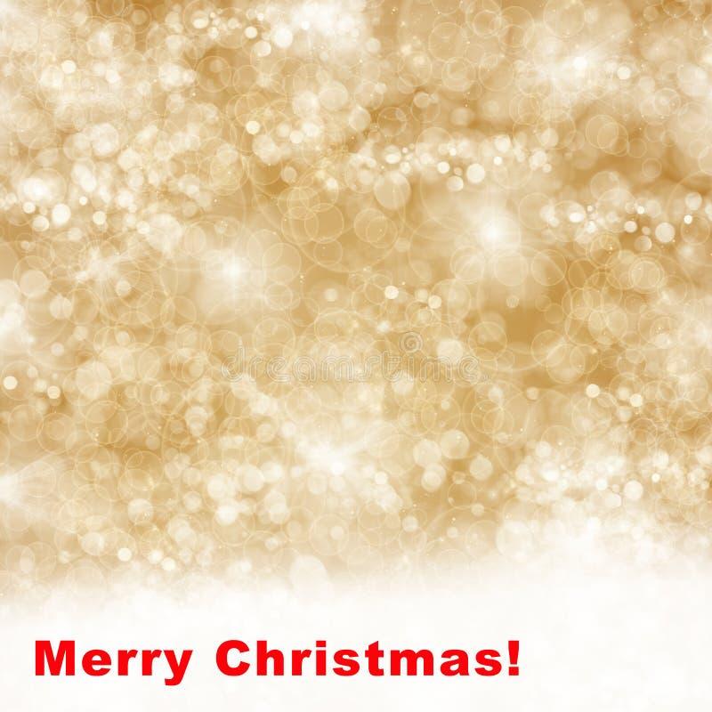 Vrolijke Kerstmisachtergrond met fonkelingen royalty-vrije illustratie