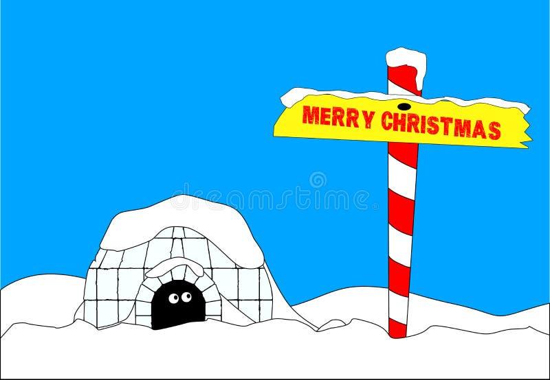 Vrolijke Kerstmisarctica royalty-vrije illustratie