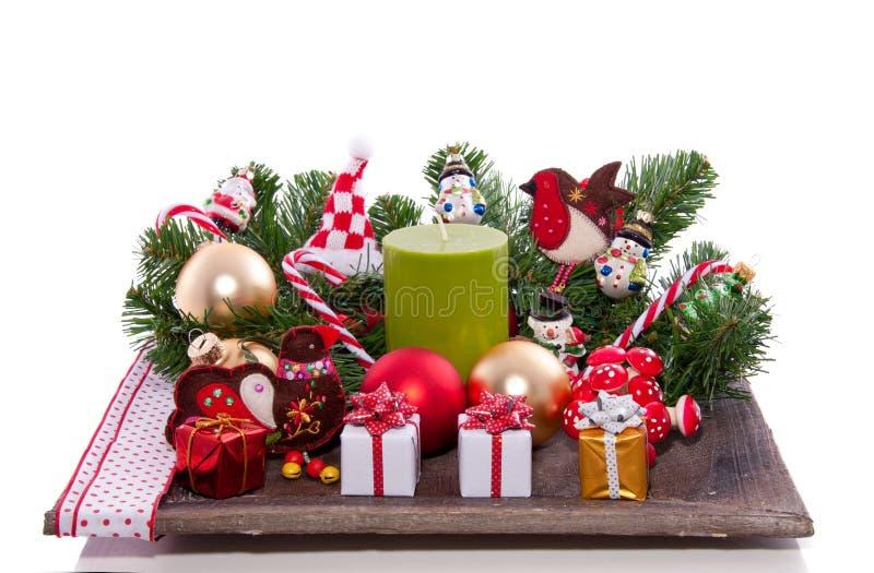 Vrolijke Kerstmisdecoratie royalty-vrije stock foto's