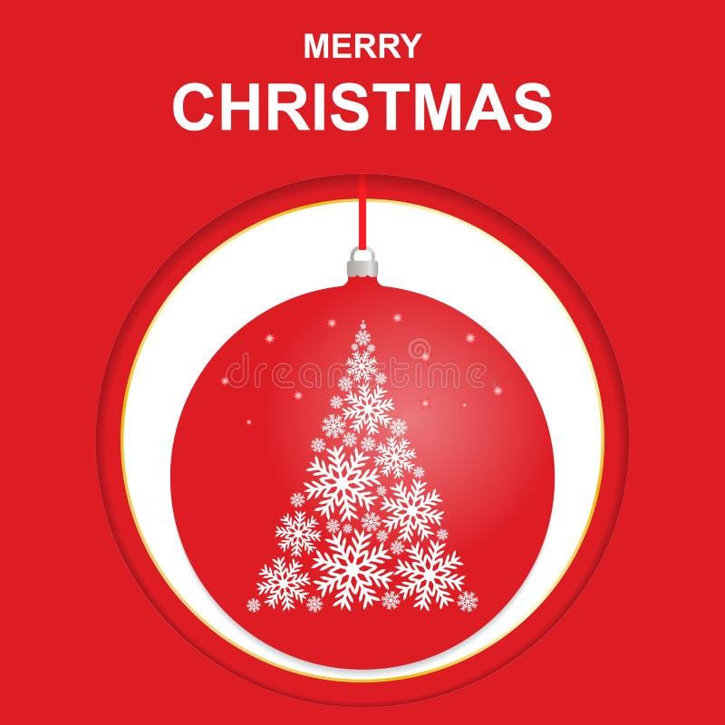 Vrolijke Kerstmisgroeten, malplaatje, prentbriefkaar, banner royalty-vrije illustratie