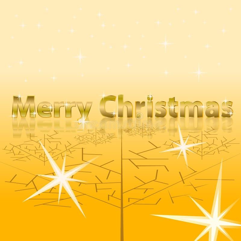 Vrolijke Kerstmisinschrijving met gouden teksten stock illustratie