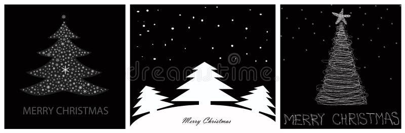 Vrolijke Kerstmiskaart vector illustratie