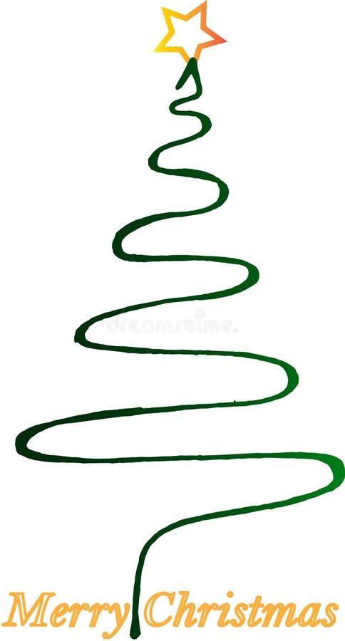 Vrolijke Kerstmiskerstboom met ster stock foto's