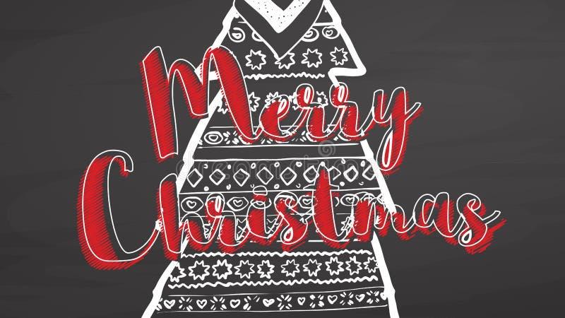 Vrolijke Kerstmisornamenten op bord vector illustratie
