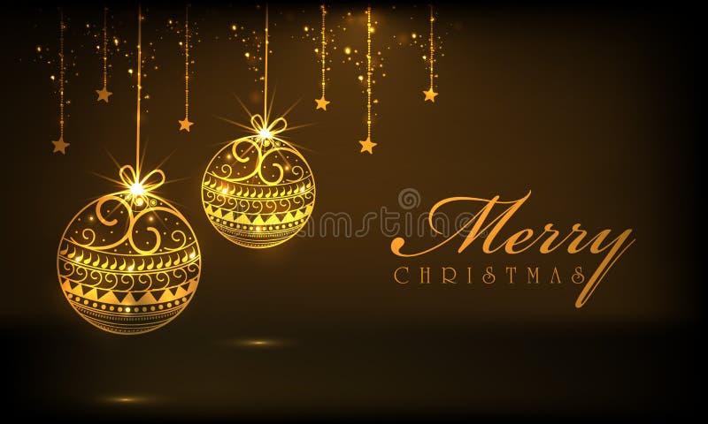 Vrolijke Kerstmisvieringen met het hangen van ornamenten vector illustratie