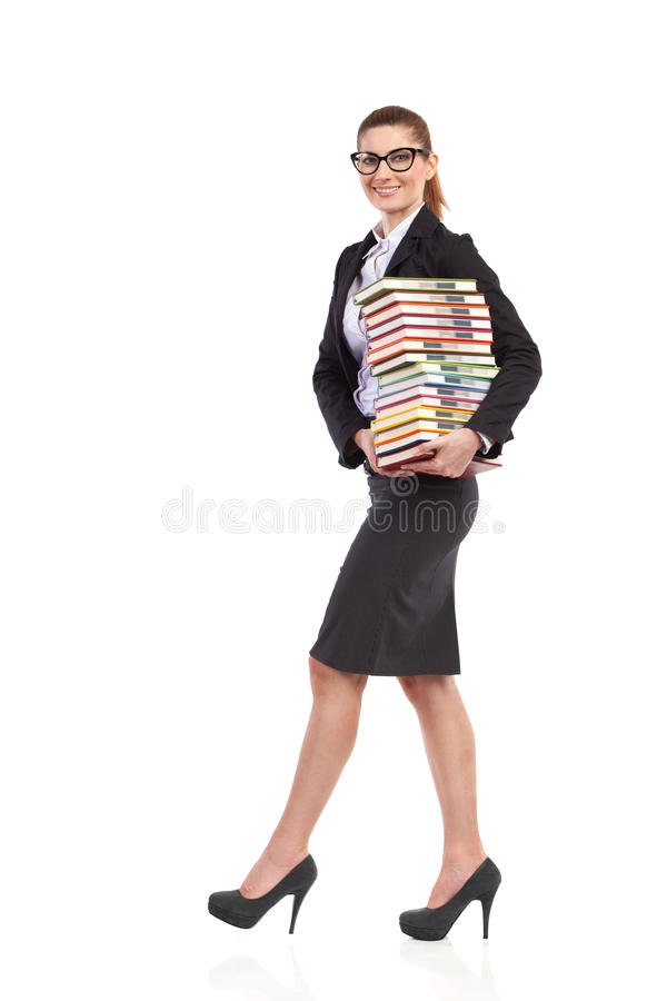 Download Vrolijke leraar met boeken stock foto. Afbeelding bestaande uit exemplaar - 39102036