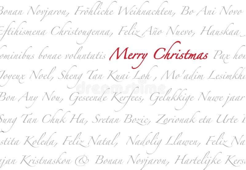 Vrolijke Meertalige Kerstmis royalty-vrije stock afbeeldingen