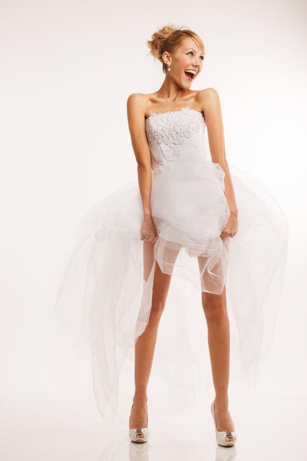 Vrolijke moderne bruid stock foto