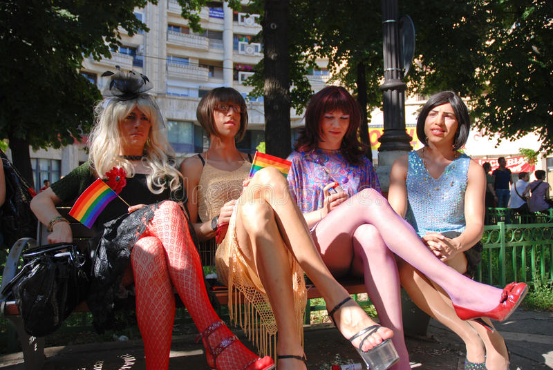 Vrolijke Parade 2009 in Boekarest royalty-vrije stock foto's