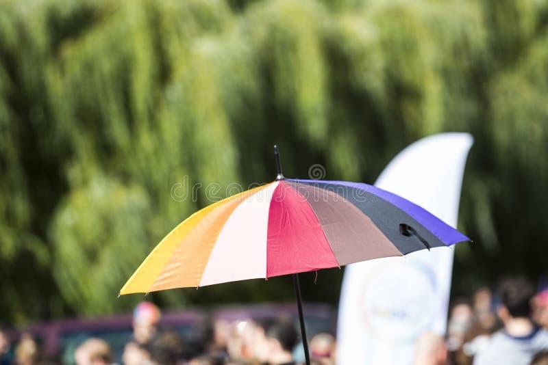 Vrolijke Parade in het park royalty-vrije stock foto's
