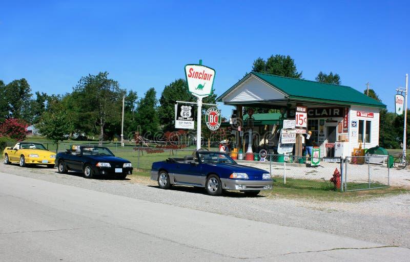 Vrolijke Post Parita op Route 66 royalty-vrije stock afbeeldingen