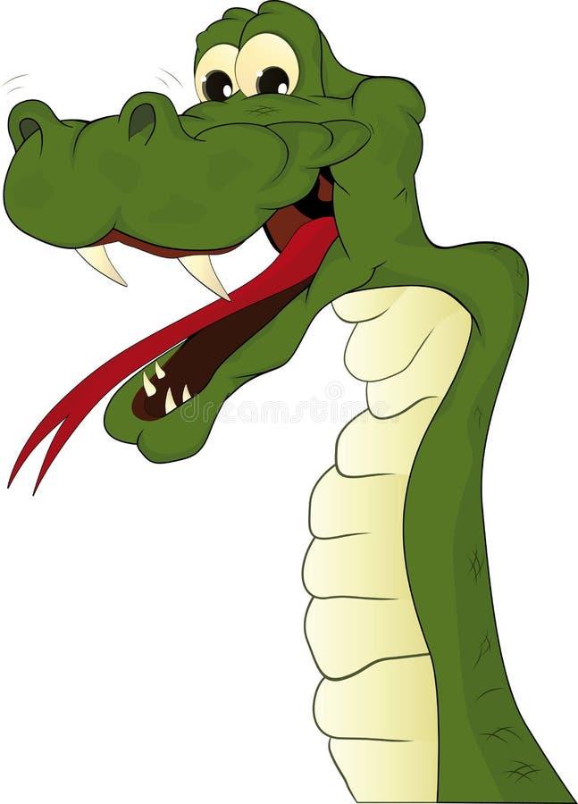 Vrolijke slang vector illustratie