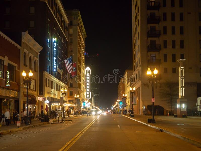 Vrolijke Straat, Knoxville, Tennessee, de Verenigde Staten van Amerika, samenvatting stock foto